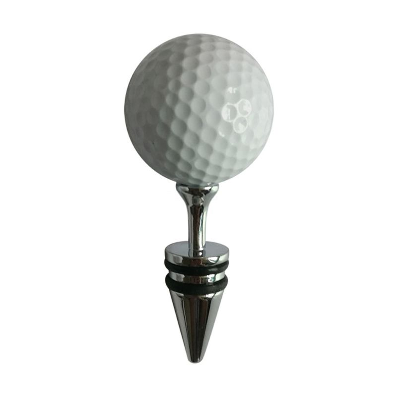 Creative Golf Ball Decorative Wine Bottle Stoppers Top Decoration Ideal Gift PXPF