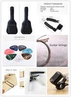 Gitarre Tasche Gitarre String Tuner Strap Pick String Cutter Gitarre Zubehör Set Wasserdicht Kratzfest Gitarre Lagerung Tasche