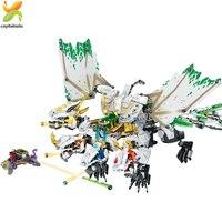 1100pcs Ninja Ultra Dragon Building Blocks Compatible Legoingly Ninjaed Lloyd Bricks set For Children Boy gift