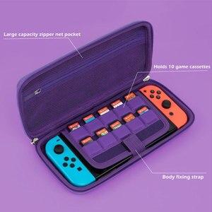 Image 2 - Nintend מתג אחסון תיק סגול שטן נסיעות מקרה NS קליפה קשה כיסוי עמיד למים תיבת עבור Nintendo מתג לייט אביזרי משחק