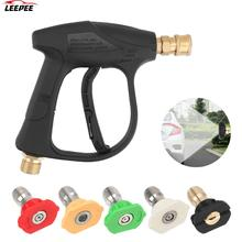 "1/4"" Quick Release Snow Foam Gun With 5pcs Soap Spray Nozzles Car Washer Car High Pressure Water Gun 14mm M22 Socket"