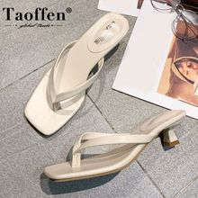 Taoffen New Arrival Women Sandals Shoes Fashion Thick Heels