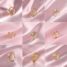 Stainless Steel Engagement Rings For Women Korean Adjustable Butterfly Zircon Wedding Rings Fashion Jewelry Wholesale 2021