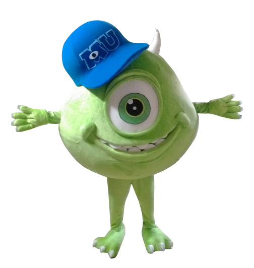 Adult Mike Wazowski Mascot Costume for Halloween Carnival Party Mike Monster Wazowski One-Eyed Mascot Costume Cartoon Apparel