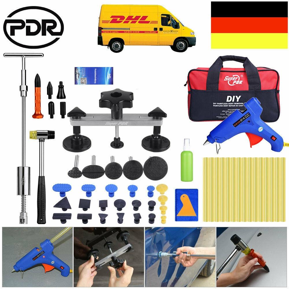 Pdr Tools Paintless Dent Repair Super Pdr Tools  Set Pdr Rods Kit Glue Sticks Car Body Repair Tools Paintless Dent Puller