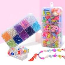 200 штук бисера Набор игрушек 10 сеток Детские Бусы девушки