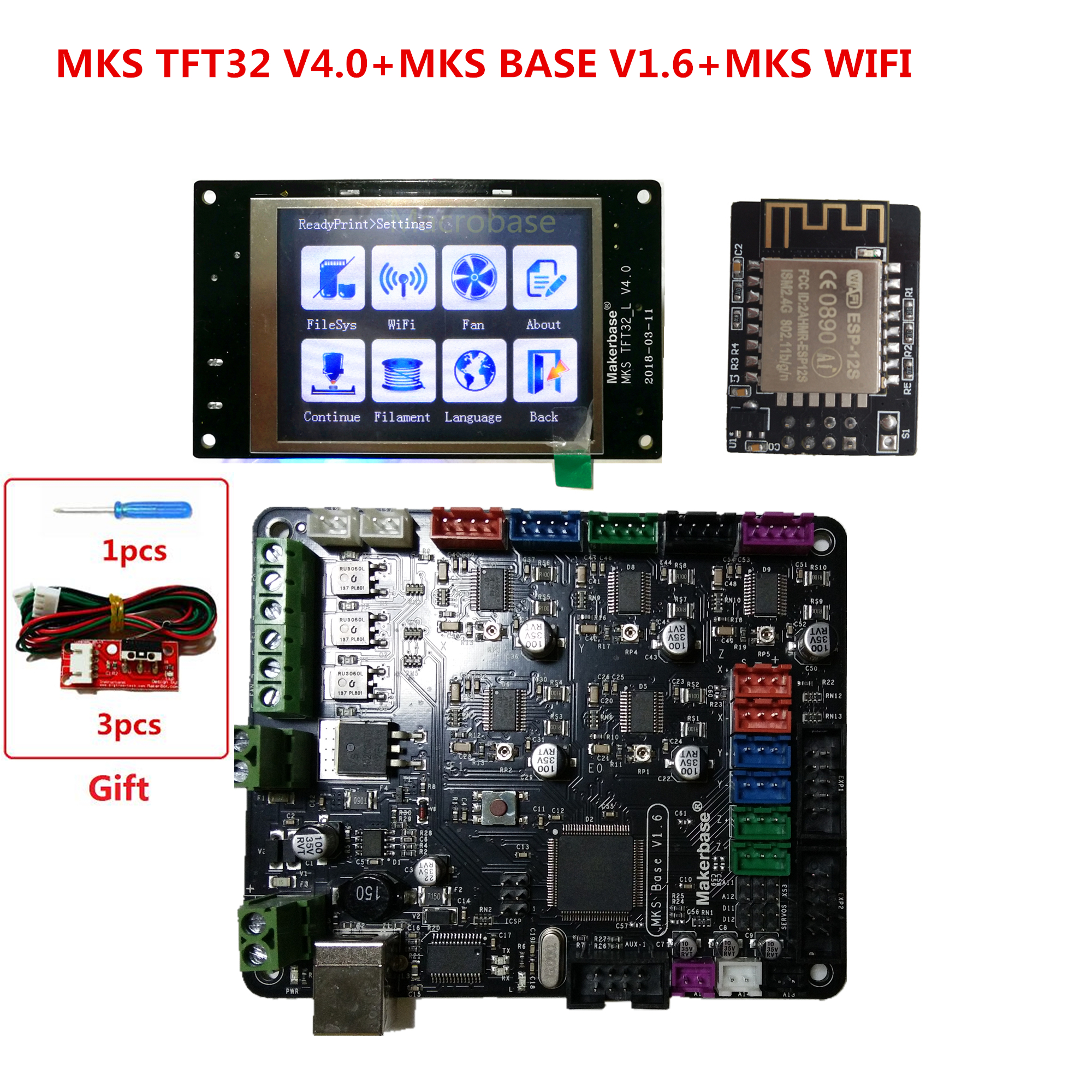 3d printer starter kit mother board MKS BASE MKS TFT32 V4 0 touch screen all in