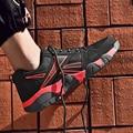 Moda casais tênis homem zapatos de hombre respirável malha de ar masculino sapatos de corrida tenis masculino adulto plus size 36-45