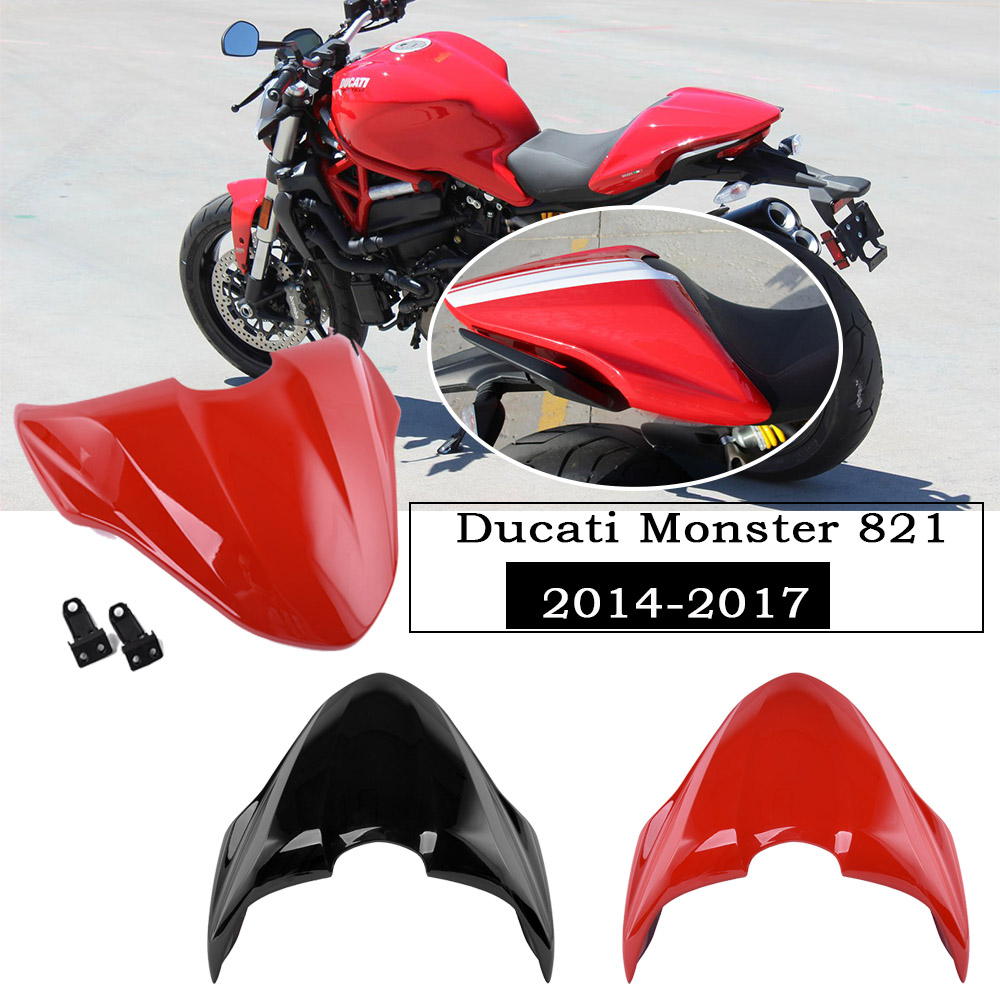 Motorcycle Parts ABS Plastic Rear Passenger Pillion Seat Cover Cap Hard Seat Cowl Hump For Ducati Monster 821 14 2015 2016 2017