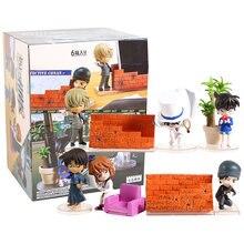 Detective Conan Desktop Figuur Edogawa Konan Haibara Ai Hattori Heiji Kaitou Kiddo Akai Shuuichi Furuya Rei 6 Stks/set
