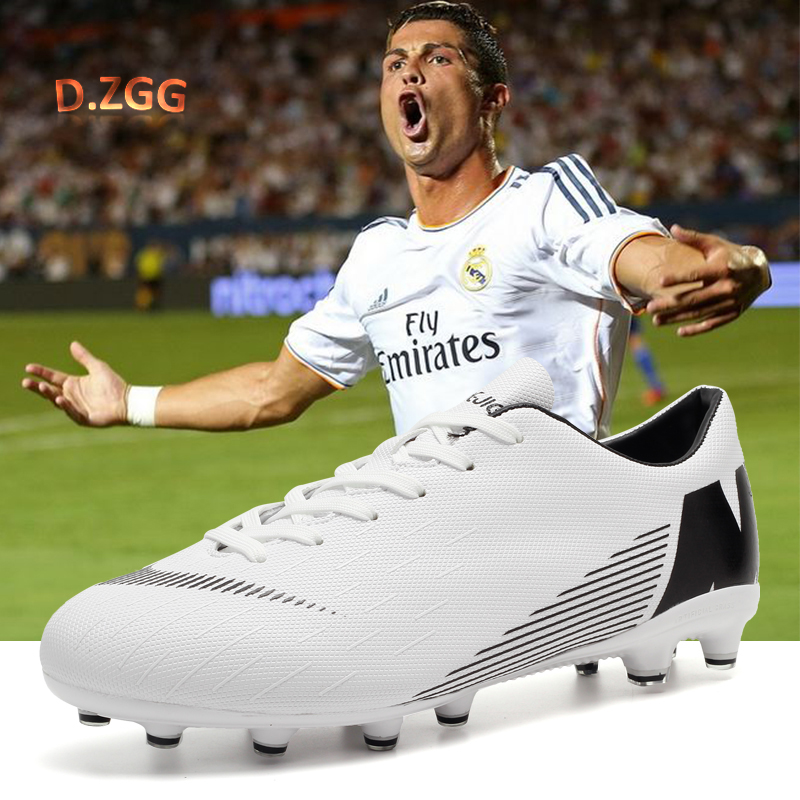 Professional Men's Outdoor Long Spike Football Shoes Comfortable Non-slip Futsal Shoes Youth Football Match Training Sneakers
