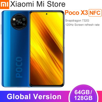 In Stock Global Version Xiaomi Poco X3 NFC Smartphone 64GB/128GB Snapdragon 732G Octa Core 64MP 5160mAh Battery 33W Fast Charge