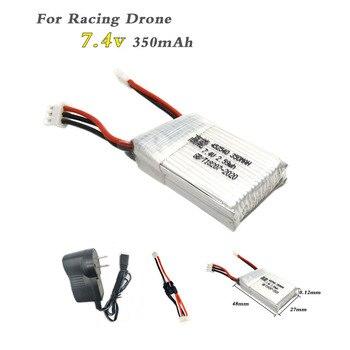 Batería Lipo 2s 7,4 v 350mAh 25C XH2.54 enchufe para 515W 515V MJX X401H X402 accesorios para drones RC piezas de coche RC con cargador Lipo