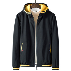 High Quality 2020 New Fashion Spring Casual Jacket Men Hooded Windbreaker Coat Men Outerwear Jackets Slim Fit