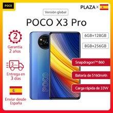 POCO X3 Pro – Smartphone NFC, Version globale, Snapdragon 860 6.67, écran DotDisplay 120Hz, caméra 48mp, batterie 5160 mAh, charge rapide 33w, en Stock