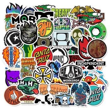 50PCS Brand Logo Sticker Graffiti Stickers for DIY Sticker on Travel Case Laptop Skateboard Guitar Fridge Phone Decal Luggage bevle a0040 famous logo laptop luggage skateboard graffiti notebook motor stickers decal fridge waterproof sticker for cars