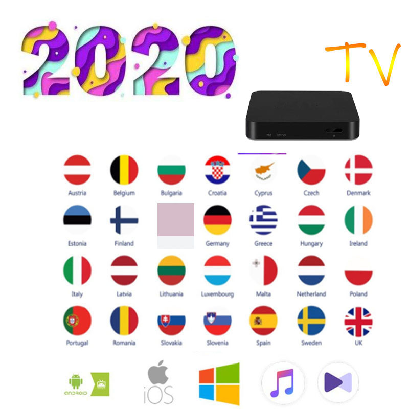 4K HD Best Europe TV Sub Android Tv Box Spain Dutch Sweden  Arabic Asian Africa America Smart TV