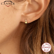Cute 925 Sterling Silver Five-pointed Star CZ Zircon Stud Earrings for Women Simple Geometric INS Gold Earrings Fashion Jewelry cute long chain silver stud earrings with bling zircon stone for women fashion jewelry korean earrings 925 silver