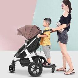 Wózek dziecięcy pomocniczy Adapter pedału drugi wózek dziecięcy przyczepa na kółkach wózki dla dzieci zdejmowana płyta stojąca z siedzeniem|Akcesoria do wózków|Matka i dzieci -