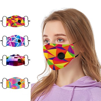 Adult Men And Women Printed Outdoor Anti-dust Double-layer Mask Mascarilla Mascarilla Masque Mondkapjes Wasbaar Masque En Tissu