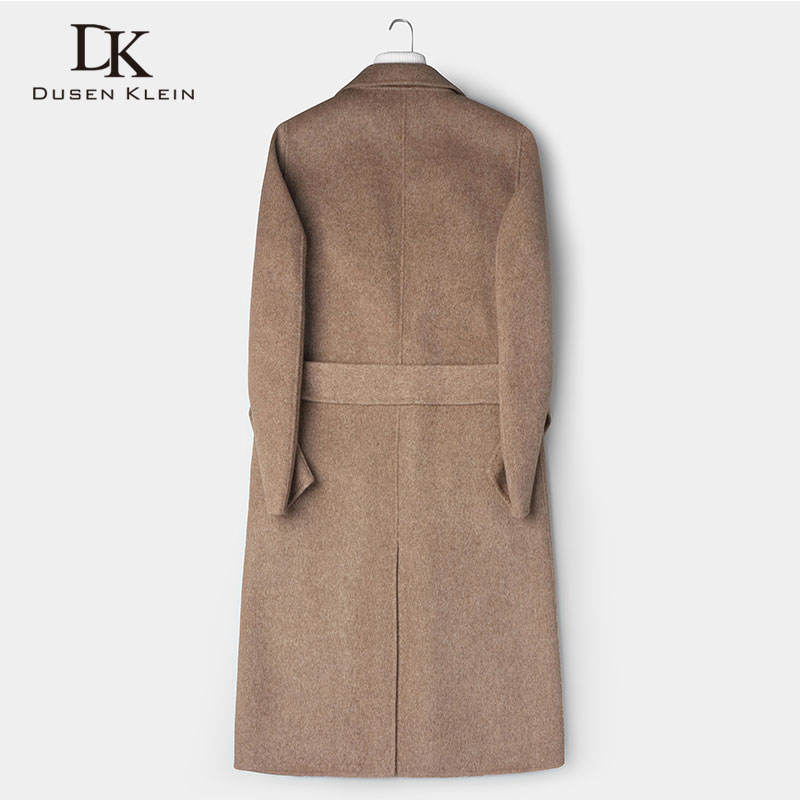 Wool Men Long Blend Coat Winter Warm Business Casual Slim Jacket z8809