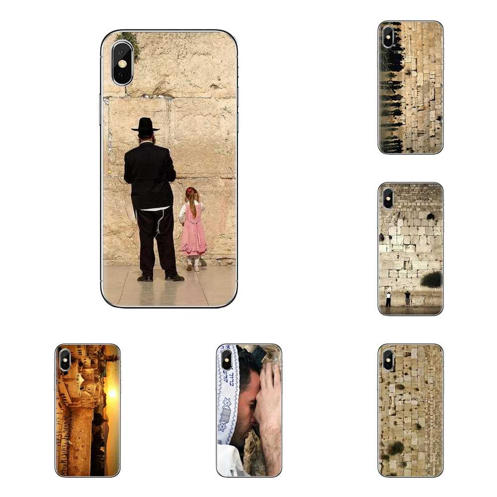 Khóc lóc Tường Jerusalem Israel Poster Cho Iphone XS Max XR X 4 4S 5 5S 5C SE 6 6S 7 8 Plus Samsung Galaxy J1 J3 J5 J7 A3 A5