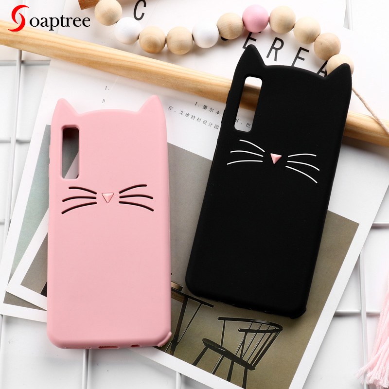 3D <font><b>Cat</b></font> <font><b>Case</b></font> For <font><b>Samsung</b></font> <font><b>Galaxy</b></font> A50 A70 A30 A20 M10 M30 <font><b>Cases</b></font> Soft Silicone Cover for <font><b>Samsung</b></font> A7 A6 <font><b>A8</b></font> J6 J4 Plus <font><b>2018</b></font> Bumper image