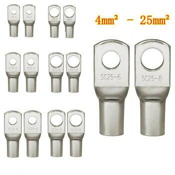 100/50/25/10 Uds 4-25mm surtido en bornes de cobre terminales de crimpado de anillo, conectores ojal 1