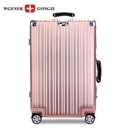 Алюминиевый сплав магния Ретро тележка Чехол-стиль алюминиевый путешествия Lugguge багажная сумка-интернат анти-давление сейсмическая