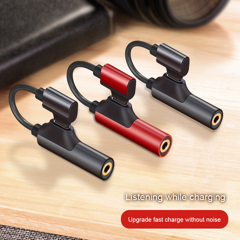 2 in 1 USB Type C to 3.5mm Converter Jack Aux Earphone Call Audio Cable Type-C Charging <font><b>Adapter</b></font> Cable For <font><b>Xiaomi</b></font> Huawei P10 Letv image