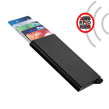Anti Theft RFID Blocking Wallet NFC IC ID Business Card Holder Metal A