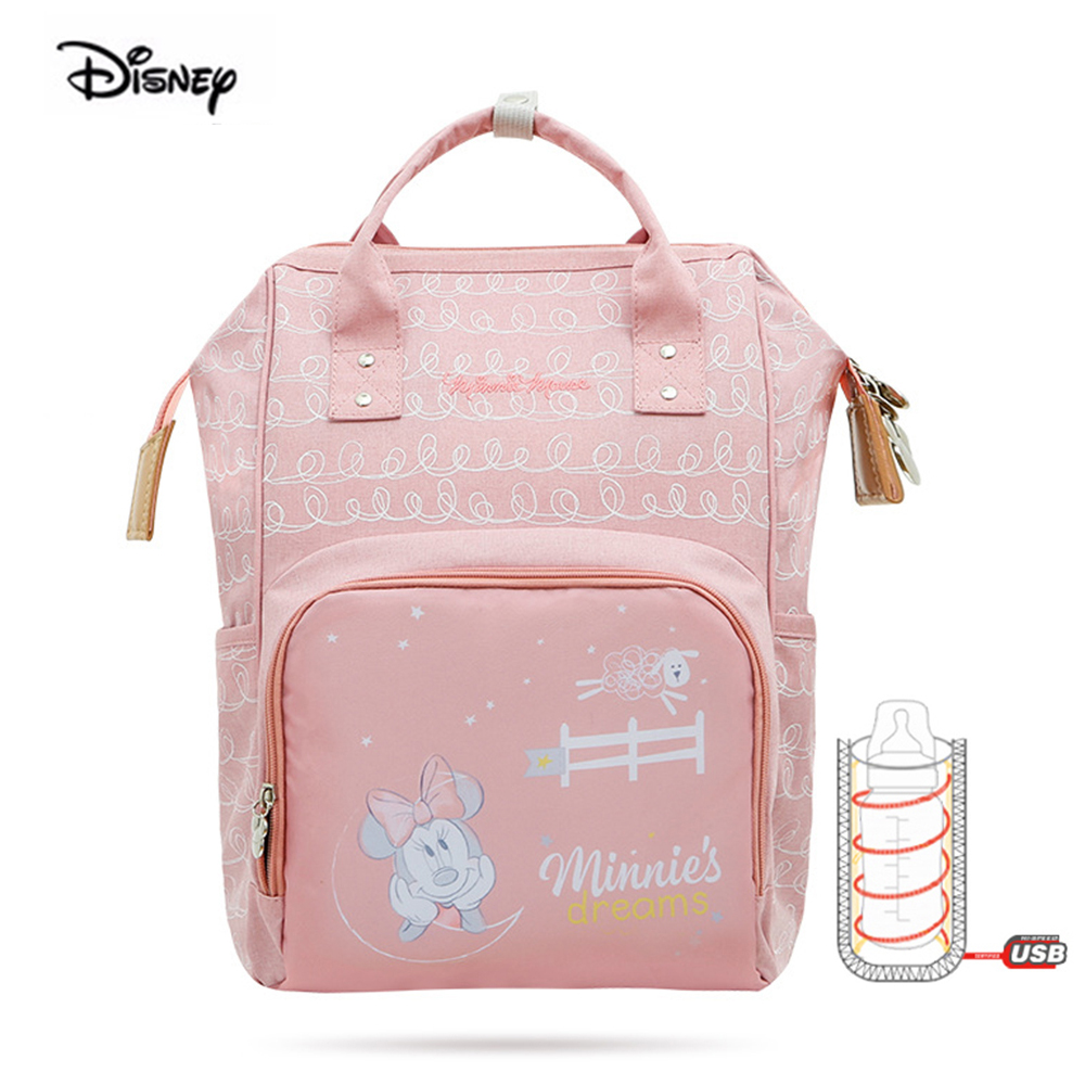 Disney Mommy Bag Multi-Function Large Capacity Mummy Bag Waterproof Backpack Female Pregnant Woman Bag Maternal And Infant Bag