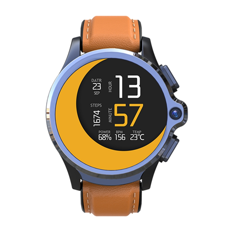 Kospet PRIME 1.6' Face Identify 1260mAh Long Standby 3G+32G Dual Camera 4G-LTE bluetooth Music Vide Photo Smart Watch Phone