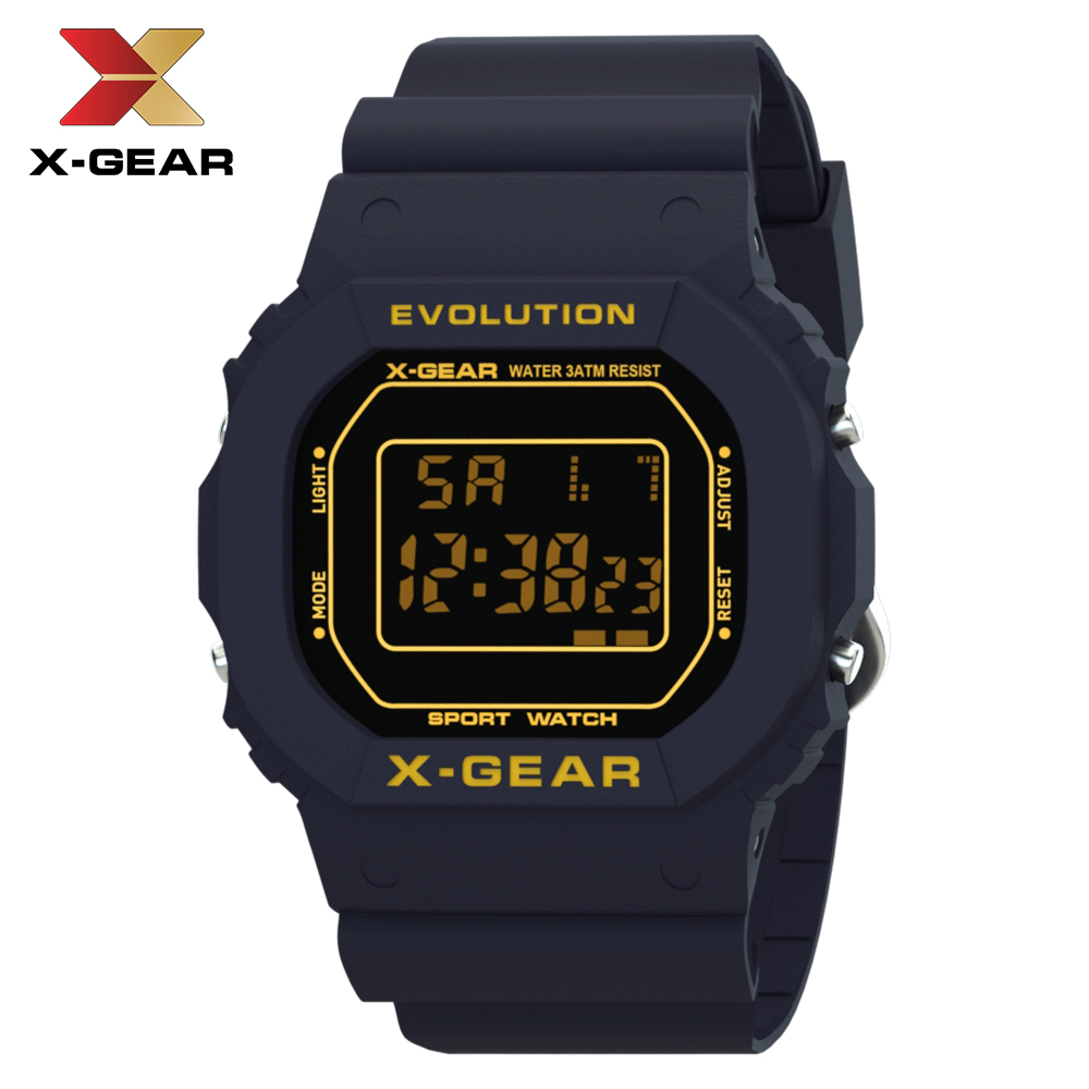 X-GEAR 2019 Men Watches Fashion Super Classic Digital Watch Unisex Male WristWatch Rectangle Children Sport Watches