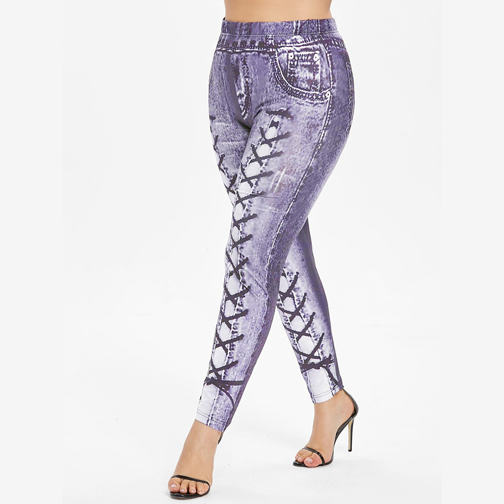 Sweatpants Women Printed Fitness Leggings Running Gym Stretch Sports Pants Trousers Spodnie Damskie