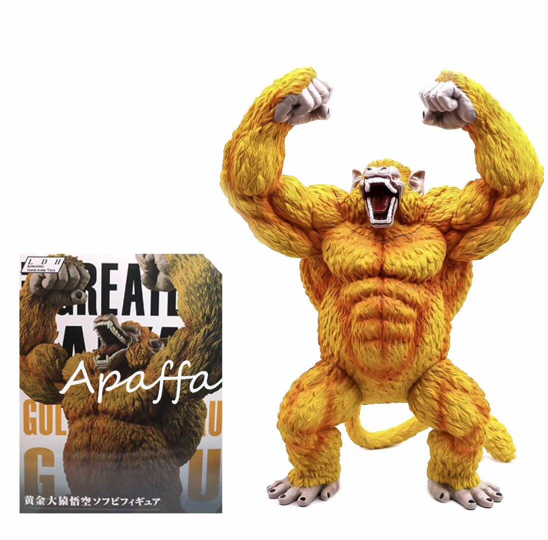 Hot Akira Toriyama Comic Anime Dragon Ball Statue Son Goku Gokou Oozaru Ape Golden Color Destroyer 40CM Figure Model Toy
