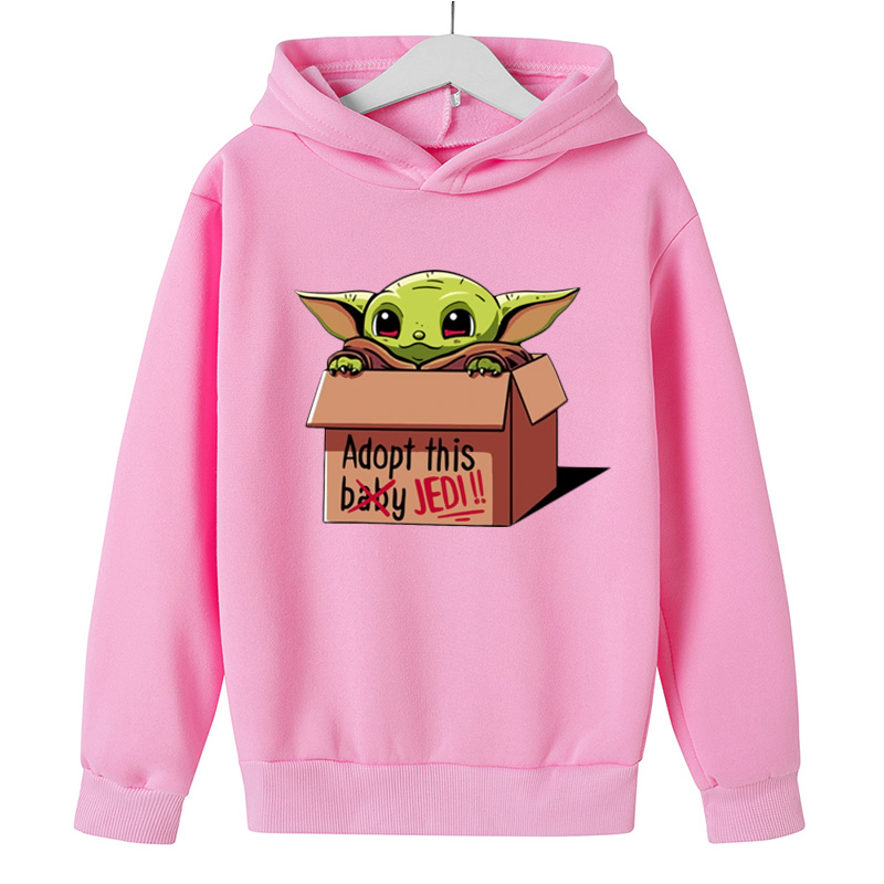 Star Wars The mandaloriano Baby Yoda costumi Cosplay felpa felpa con cappuccio giacca cappotto Pullover ragazzo ragazza Hip hop Street top Cartoon