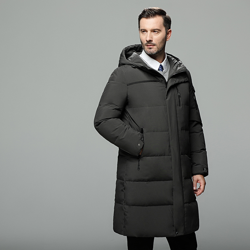 Long Section Down Jacket Coat Thick Middle-aged Casual Warm Winter Men's Clothing
