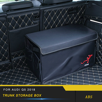 For Audi Q5 FY 2018 Car Black Organizer Box Large Capacity Folding Storage Bag Trunk Stowing and Tidying