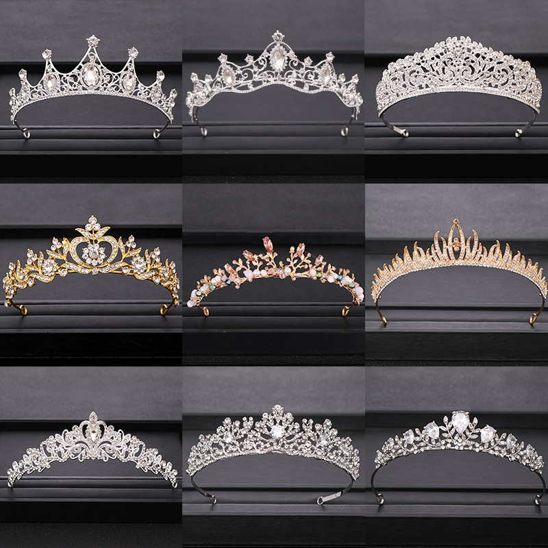 2020 Top Wedding Crown For Bridal Headpiece Gold Silver Baroque Crystal Tiaras And Crowns Bride Tiara Wedding Hair Accessories