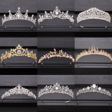 2020 Top Wedding Crown for Bridal Headpiece Gold Silver Baroque Crystal tiaras and crowns Bride tiara Wedding Hair Accessories(China)