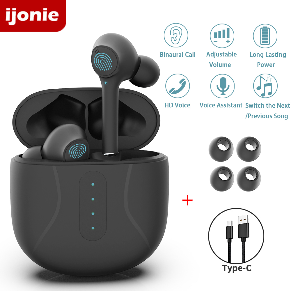 Bluetooth Headphones Earbuds tws Wireless Earphones with Microphone Sports Touch Control with charging case pk i9000 pro tws