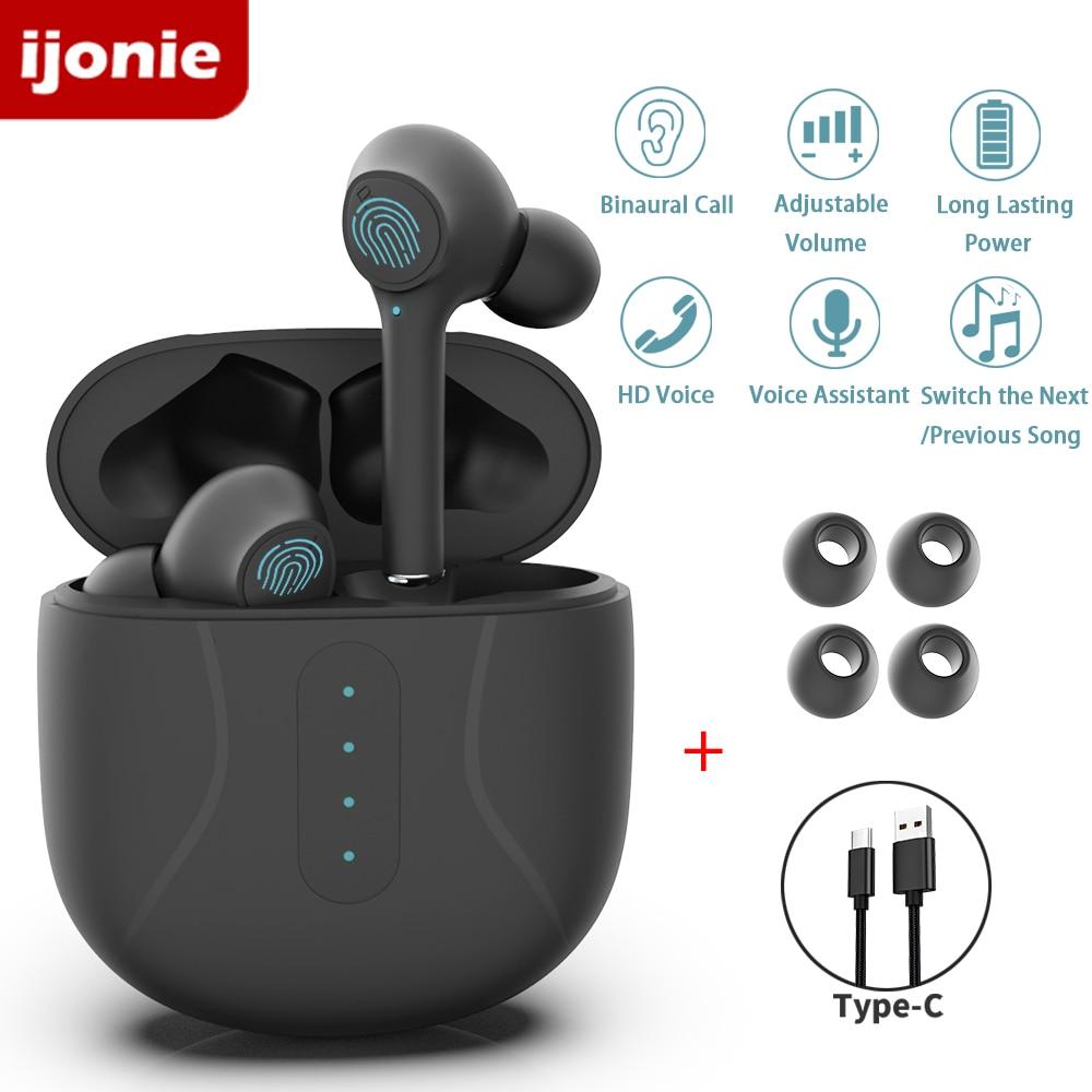 Наушники-вкладыши Bluetooth, беспроводные наушники tws с микрофоном, спортивные наушники с сенсорным управлением и зарядным чехлом pk i9000 pro tws