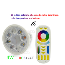цена на 4W MiLight AC86-265V LED Bulb GU10 Dimmable LED Lamp Light RGB+Warm White+White (RGB+CCT) Spotlight Indoor Living Room