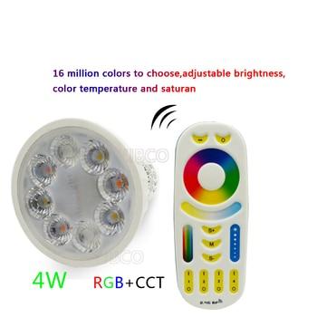 цена на 4W Miboxer AC86-265V LED Bulb GU10 Dimmable LED Lamp Light RGB+Warm White+White (RGB+CCT) Spotlight Indoor Living Room