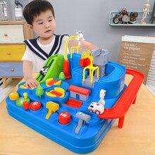 Carro de trilho de corrida, brinquedos educativos, crianças, pista, carro, aventura, jogo de cérebro, jogo interativo mecânico, brinquedo