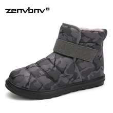 Warm Men winter boots Plus size 36-47 Unisex quality snow for men waterproof warm shoes mens ankle with fur
