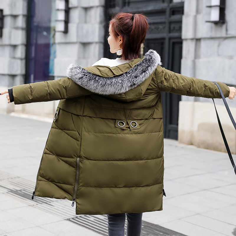 Thick Warm Winter Women's Down Jacket Female Brand Clothes 2019 Korean 90% Duck Down Coat Realfox Fur Hooded Hiver 2027-2