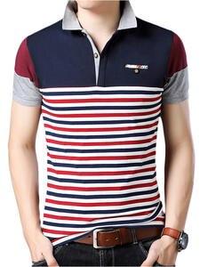 Tops Polo-Shirt Short-Sleeves Plus-Size Men Fashion Summer 95%Cotton Brand 23-Design-Style