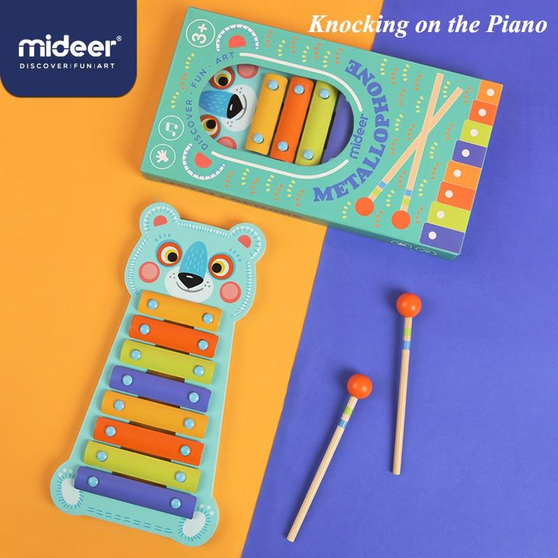 mideer oito tom bater no piano 3 anos bebe urso brinquedo instrumento musical quebra cabeca mao